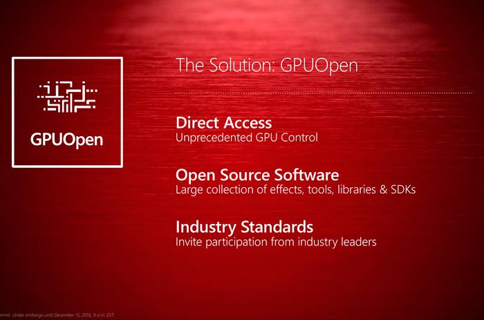 AMD lanza GPUOpen para dar batalla a Nvidia Gameworks