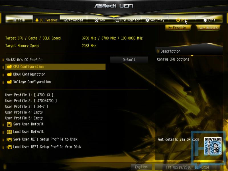1 - Configuracion de CPU