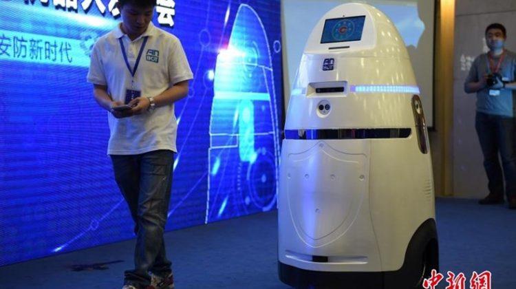 China revela robot policía, el Anbot
