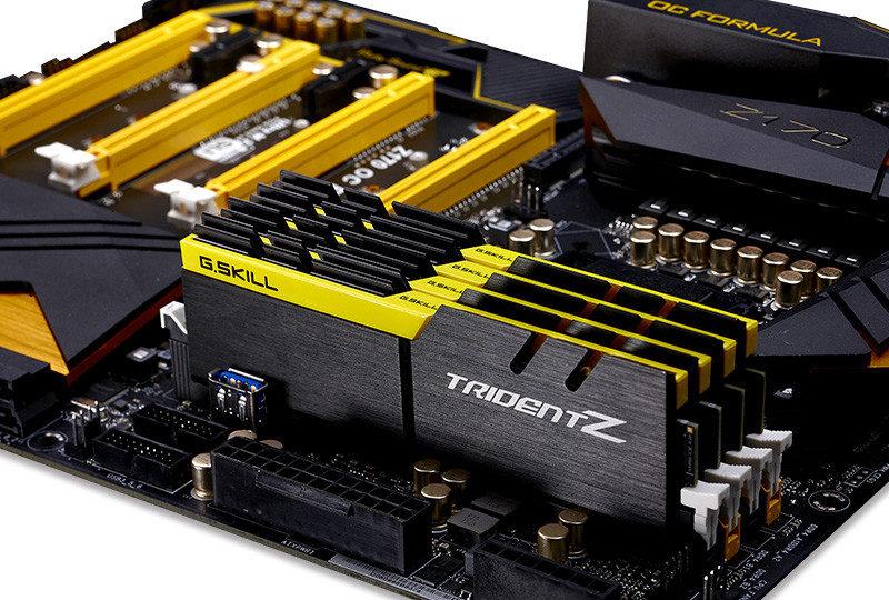 G.Skill presenta 5 nuevos colores para sus memorias DDR4 Trident Z 4