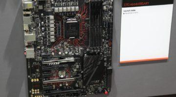 MSI muestra una placa madre con el chip serie 200 de Intel