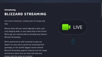 Los juegos de Blizzard ya pueden hacer streaming directamente por Facebook