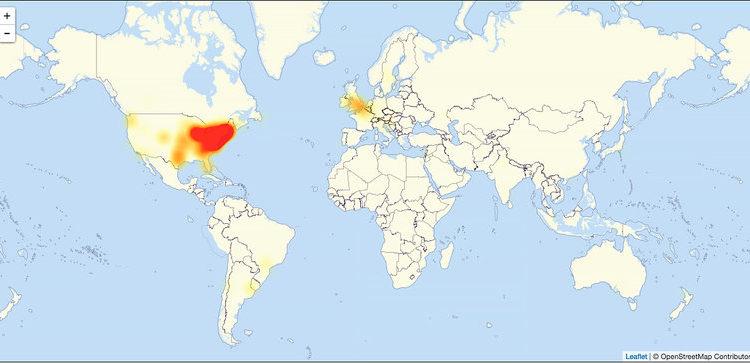 Sitios con ataques en estos momentos